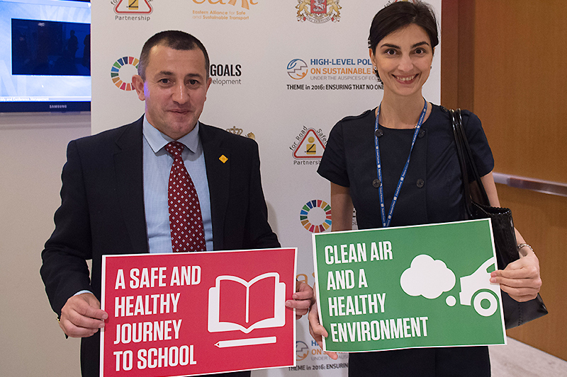 Advocates from EASST and the Georgian Partnership for Road Safety explained their work for road safety and air quality in Georgia.