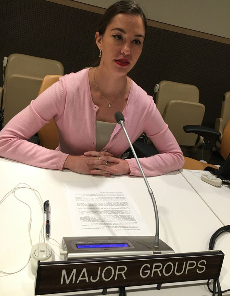 The FIA Foundation's Natalie Draisin advocated for the 'safe and healthy journeys' concept in many UN meetings and briefings with negotiators.