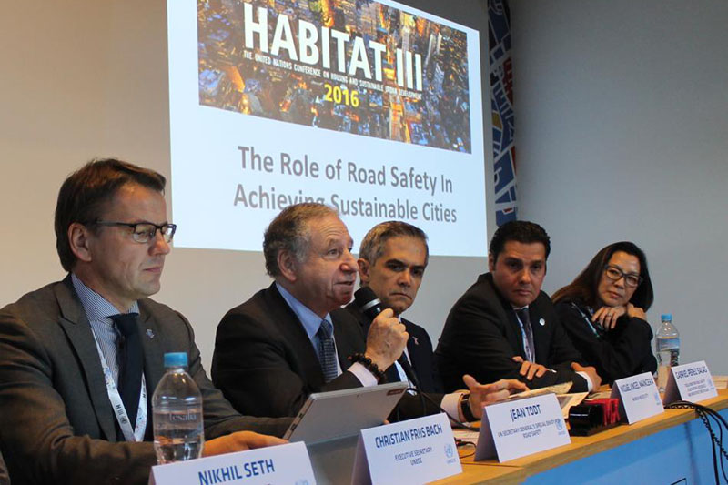 FIA President Jean Todt spoke about the new Safer City Streets initiative at a road safety event.