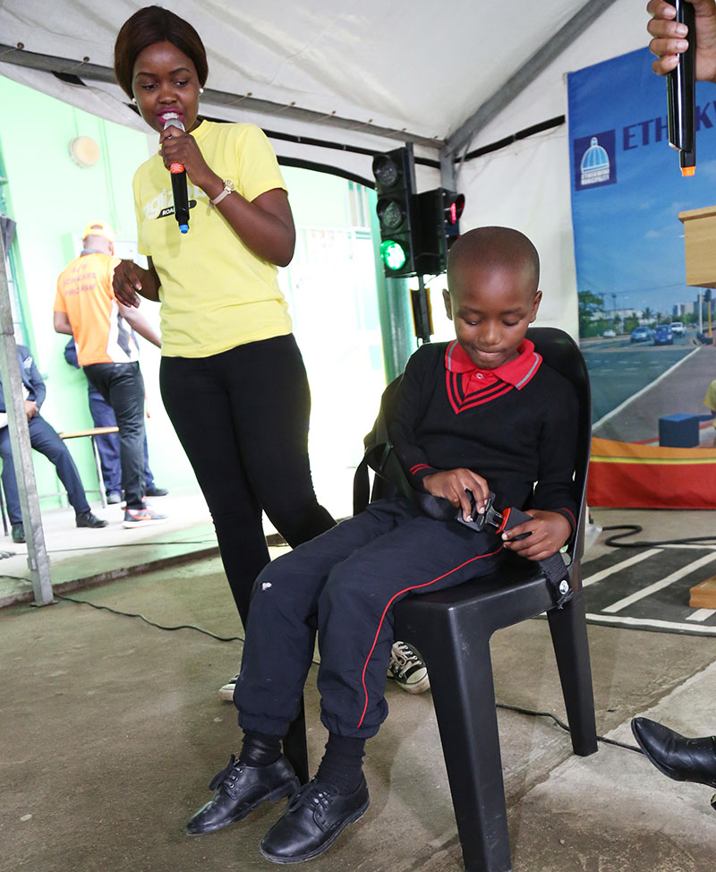 Each school in eThekwini municipality has a demonstration seatbelt, so that children can learn to use it. The positive behaviour trickles down to taxi drivers, often used for student transport to and from school.