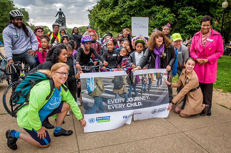 In U.S. Capitol, children celebrate UN Global Road Safety Week