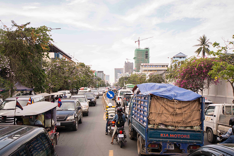 Cambodia is experiencing a rapid increase in motorisation, with 20 people killed or seriously injured every day.