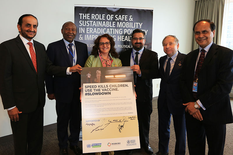Several UN Ambassadors showed support for the 'Speed Vaccine' campaign.