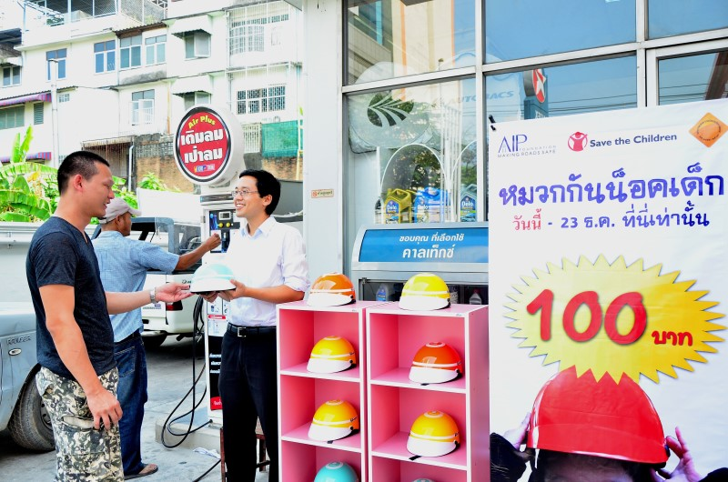 110,000 reached by Thai child motorcycle helmet use programme