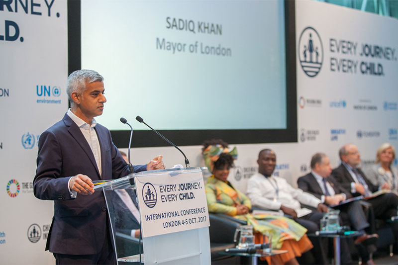 Mayor of London Sadiq Khan set out his agenda for improving London's air quality.