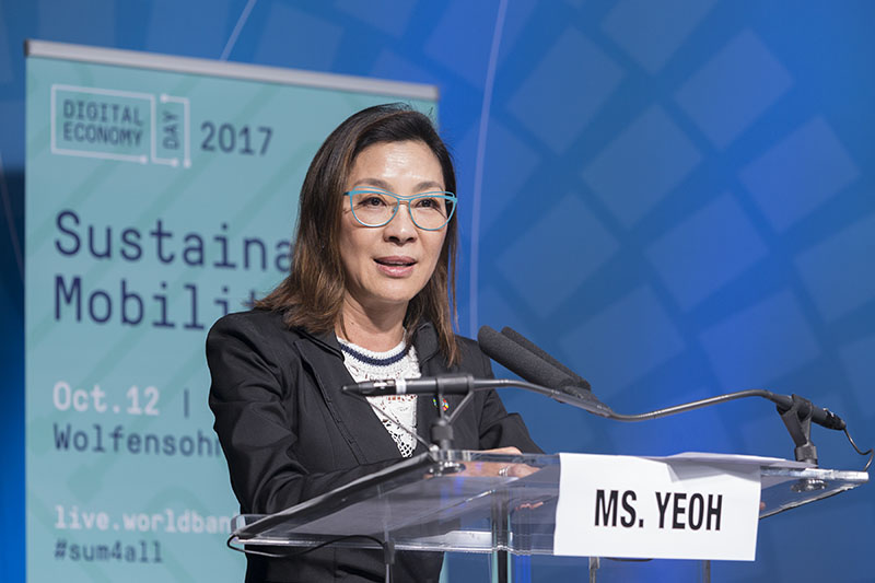 'Change the way we move': Michelle Yeoh at World Bank 2017 Annual Meetings