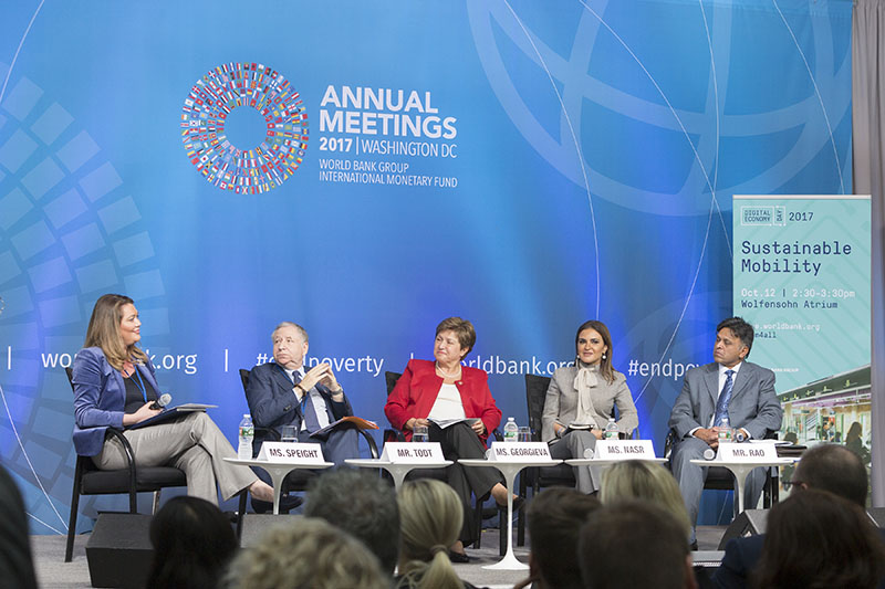 The session, hosted by World Bank CEO Kristalina Georgieva, also featured FIA President Jean Todt. All photos courtesy of World Bank.