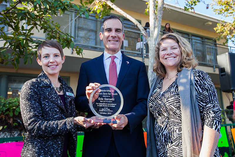 Los Angeles wins first 'Vision Zero for Youth' Leadership award