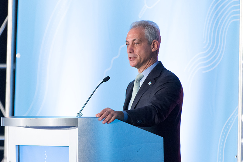 Chicago Mayor Rahm Emmanuel focuses on the power of transportation and youth to shape a city.