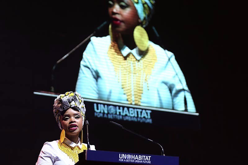 Zoleka Mandela, Global Ambassador for the Child Health Initiative.