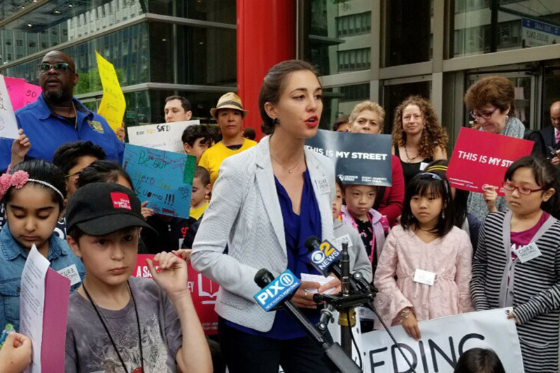 Children rally for safer streets and convince New York Governor to act