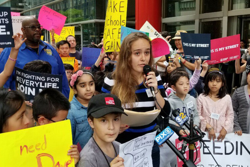 Alison de Beaufort has been a fearless youth leader placing youth at the center of Vision Zero in New York City.