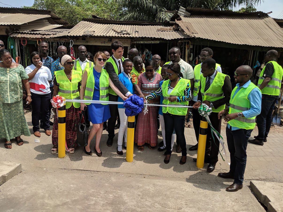 Ribbon cutting ceremony joined by local council members, Amend, FIA Foundation and the National Road Safety Commission.