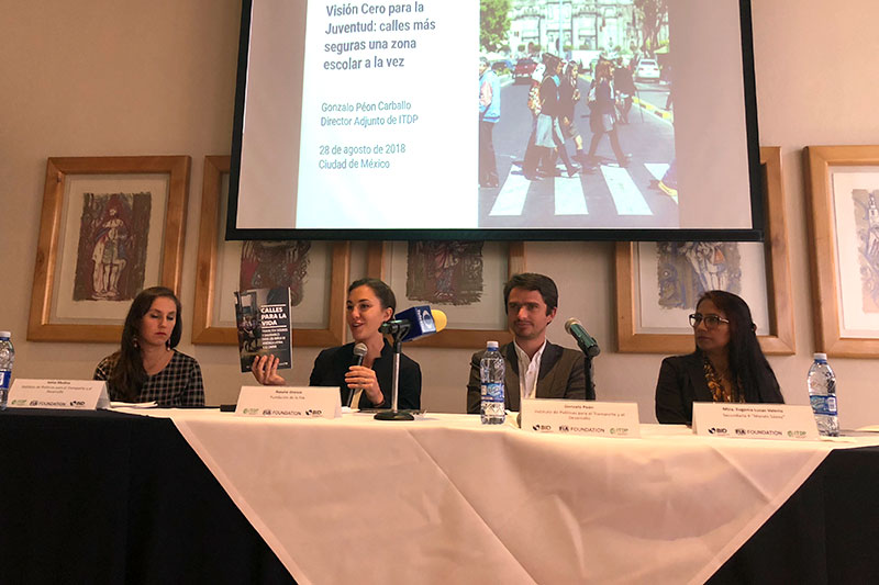 ITDP, FIA Foundation, and the Inter-American Development Bank encouraged the new administration to ensure the continuity of Vision Zero for Youth.