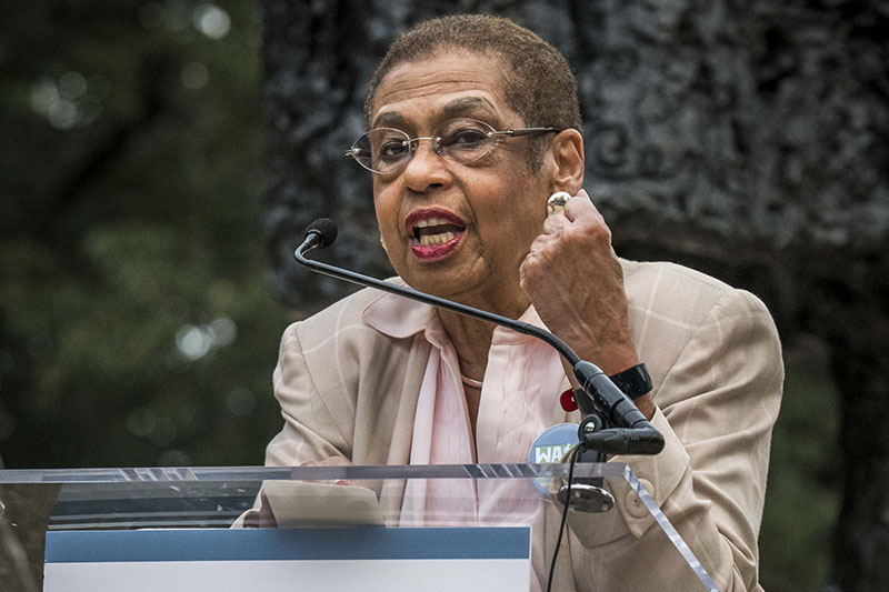 DC Congresswoman Eleanor Holmes Norton told students they have the power to demand change.