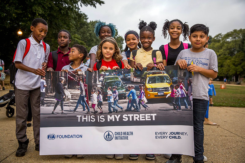 'This is my street' was heard around the world on Walk to School Day.