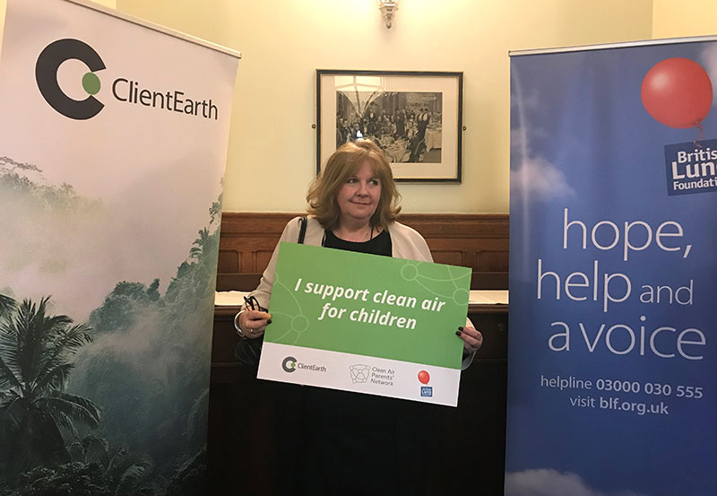 FIA Foundation Deputy Director Sheila Watson attends the launch of the UK National Clean Air for Children Programme.