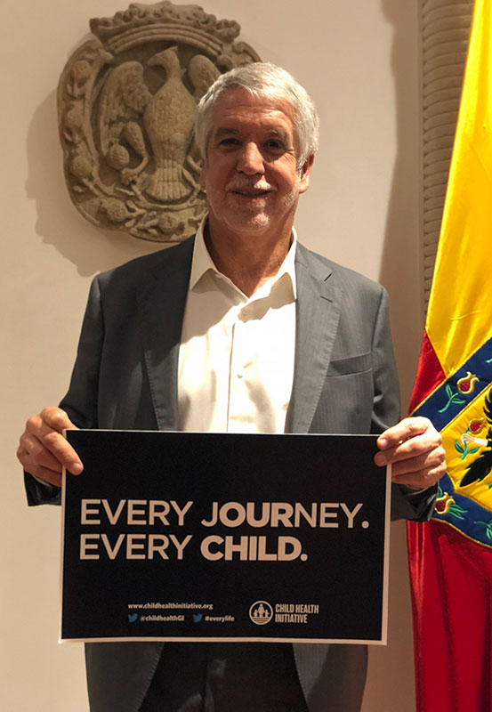 Mayor Enrique Peñalosa supports the call for a UN Special Summit on Child and Adolescent Health.