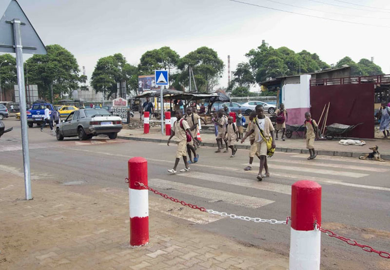 AMEND launched school road safety improvements in Abidjan, Ivory Coast.