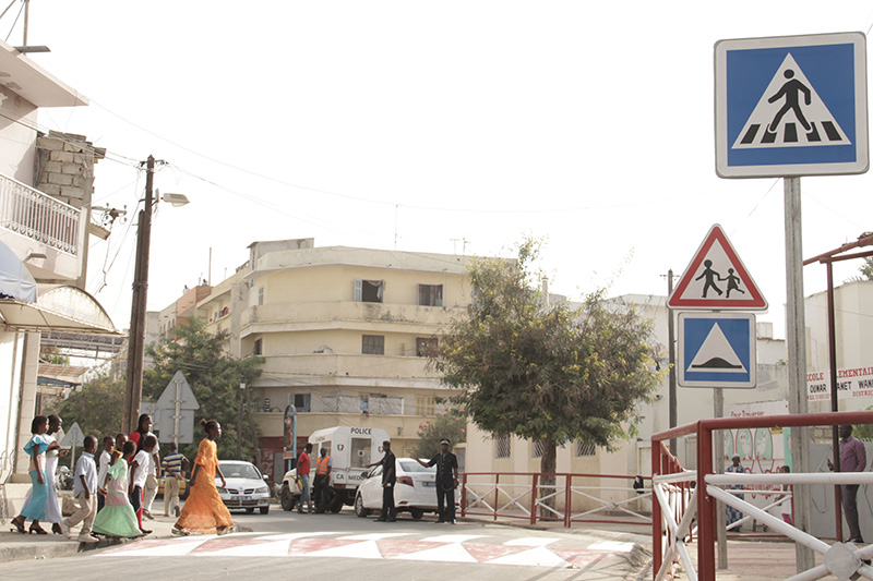 Road safety improvements implemented in Dakar, Senegal, through SARSAI.