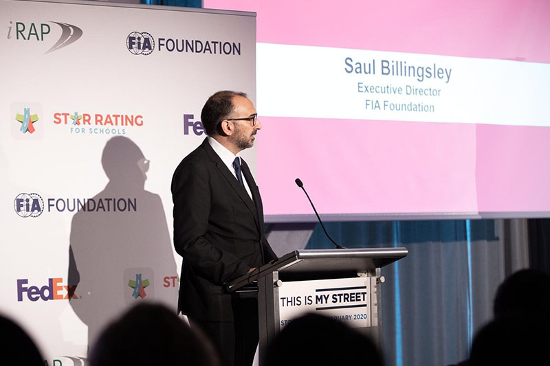 FIA Foundation Executive Director Saul Billingsley discusses the role of the FIA Foundation as a major donor.