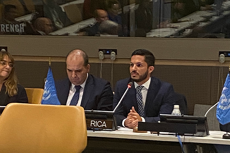 Francisco Delgado Jimenez, Human Development and Social Inclusion Minister from Costa Rica, highlighted priorities for adolescents.