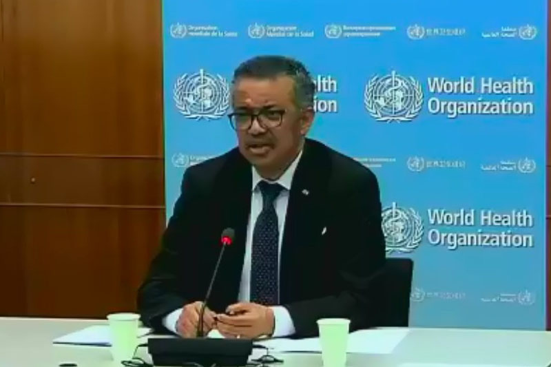 WHO Director General Dr. Tedros Adhanom Ghebreyesus.