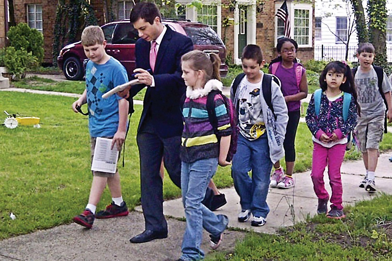 New Transportation Secretary Pete Buttigieg has been involved in a number of road safety programs including Walk to School Week as Mayor of South Bend.