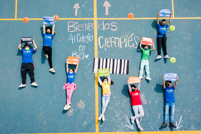 School street interventions launched in Bogota with support of FIA Foundation